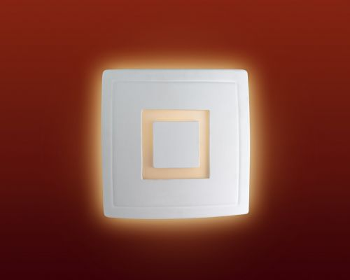 Firstlight C330UN Unglazed with Acid White Glass Ceramic Wall Light - 100w